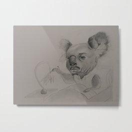 Koala Man Illustration Metal Print