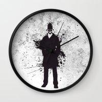 watchmen Wall Clocks featuring WATCHMEN - RORSCHACH by Zorio