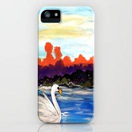 Swan Life iPhone Case