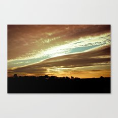 Dawn On The Side Canvas Print