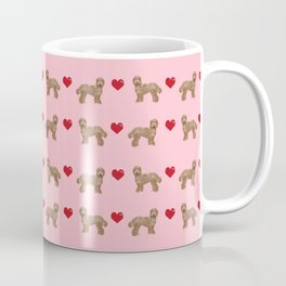 Labradoodle valentines day hearts dog breed pet pattern labradoodles Coffee Mug