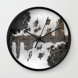 Creases interspersed with adjacent disconnections. [C] Wall Clock