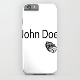 John Doe FIngerprint iPhone Case