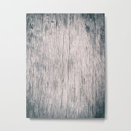 Old wooden timber table Metal Print