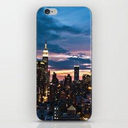 New York City By Night iPhone Skin