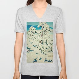 A Morning in the Snow Unisex V-Neck