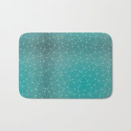Triangulated Marrs Green Dotted Pattern Bath Mat
