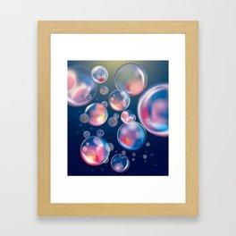 Bubbles Infinitum Framed Art Print