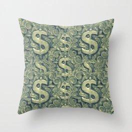 Money Symbol Ornament Throw Pillow