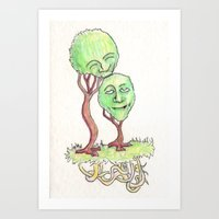 family trees Art Print