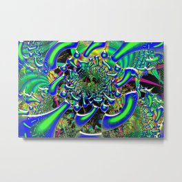 Ring Around The Nucleus Fused Glass Metal Print