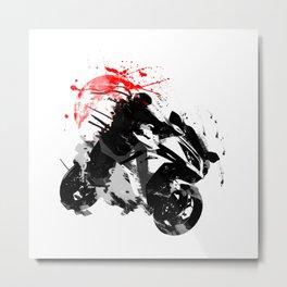 Ninja Motorcycle Japan Metal Print