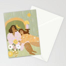 Violet Lamp Stationery Cards