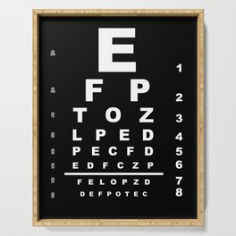 Inverted Eye Test Chart Serving Tray