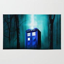 TARDIS BLUE EXPLODES Rug