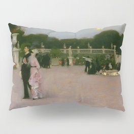 Luxembourg in the Moonlight, Paris landscape by John Singer Sargent Pillow Sham