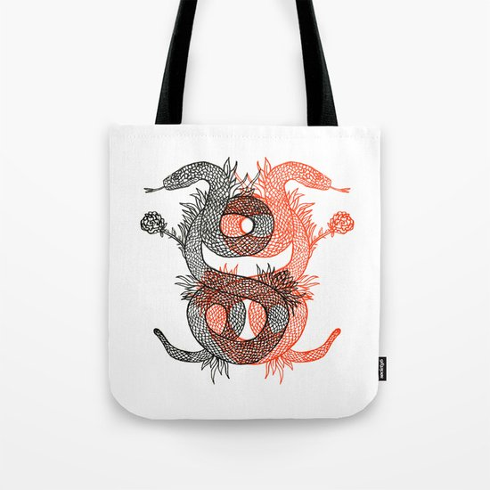 Two Serpents Tote Bag
