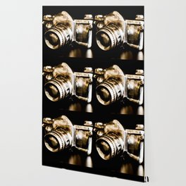 Candid Thoughts: A Modern Silver and Gold Camera Wallpaper