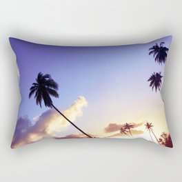 Love Palm Trees Coast  - Colorful Seaside Landscape Sunset Rectangular Pillow