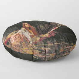 The Lady of Shalott Floor Pillow