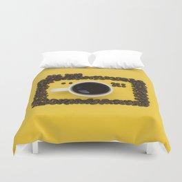 Coffee camera Duvet Cover
