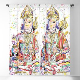Hanuman Hindu God in the form of a monkey Blackout Curtain