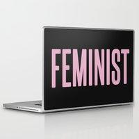 feminist Laptop & iPad Skins featuring Feminist  by Daniel McLaren
