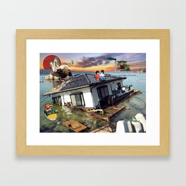 Beyond the Sea - Spirited Away / Ponyo Tsunami Series Framed Art Print