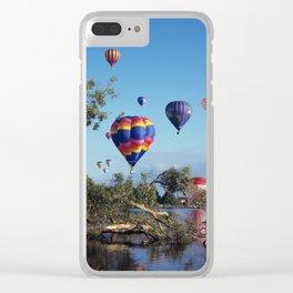 Hot air balloon scene Clear iPhone Case