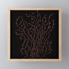 Feuillage red Framed Mini Art Print
