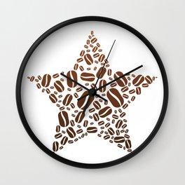 Coffee Bean Star Wall Clock