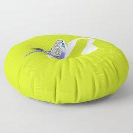 Pistachio shadow parakeet Floor Pillow