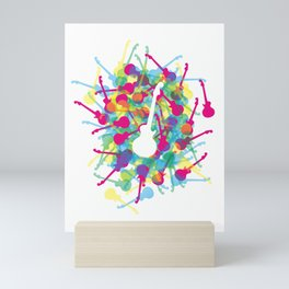 Rainbow Guitars Mini Art Print