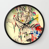 punk Wall Clocks featuring Punk by withapencilinhand