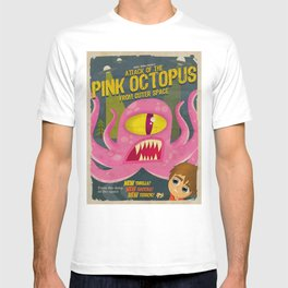 Pink octopus from outer space T-shirt