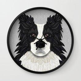 Black Border Collie Wall Clock