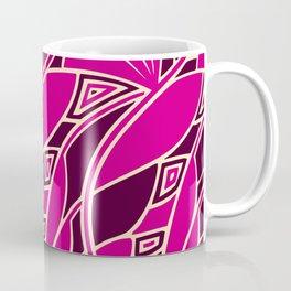 Modern art nouveau tessellations cerise and amber Coffee Mug