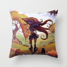 Witchy Days Throw Pillow