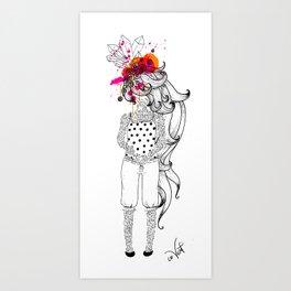 the tattooed girl Art Print
