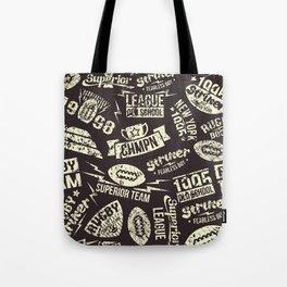 Sport rugby emblems pattern Tote Bag