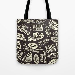 Sport rugby emblems pattern Tote Bag