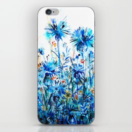 thickets of cornflowers iPhone Skin