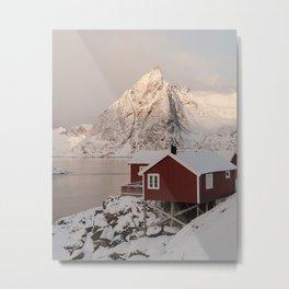 Winter in Hamnøy Metal Print