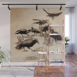"""""""The Seven Ravens"""" by Arthur Rackham From The Grimm Brothers Wall Mural"""