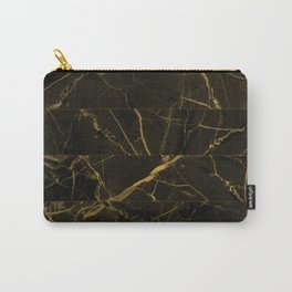 Slices Of Golden Marble Carry-All Pouch