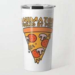 animator fueled by pizza Travel Mug