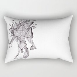 Robot trapped in triangles Rectangular Pillow