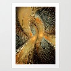 Spirals of Gold Art Print