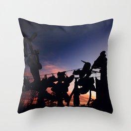 Strung up at Sunset Throw Pillow