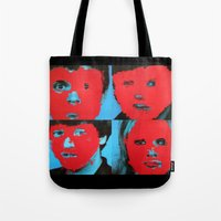 talking heads Tote Bags featuring Talking Heads - Remain in Light by NICEALB